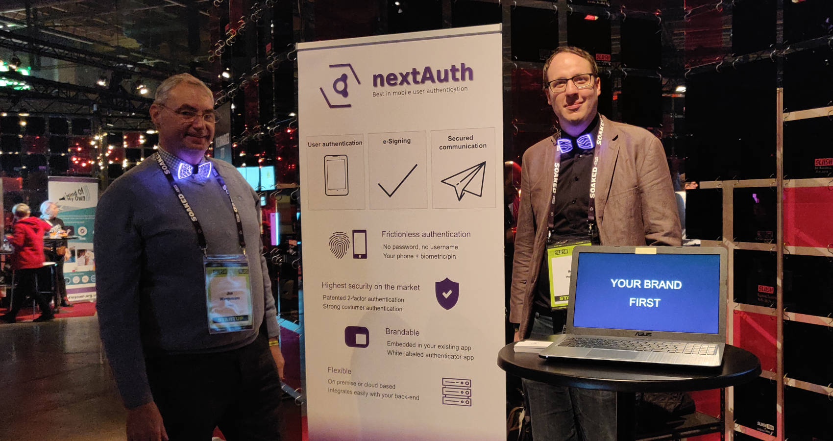 nextAuth at slush 2019