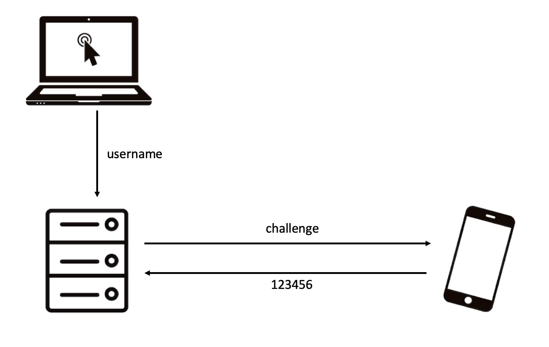 challenge response (OTP)